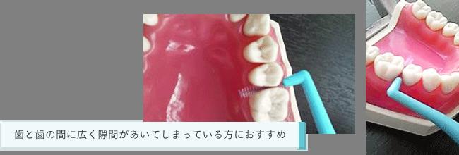 指に巻いて歯と歯の間に通す方法が一般的